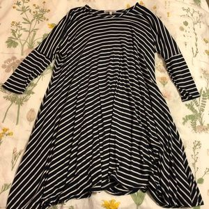 Stripped Charlotte Russe quarter sleeve dress